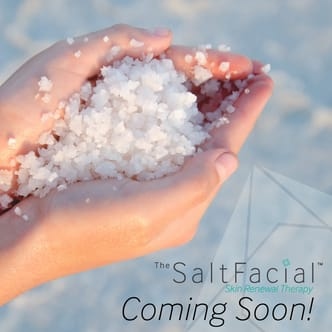 Salt facial skin renewal therapy